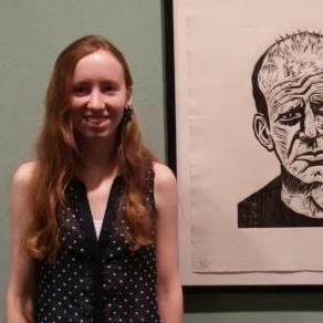 a photo of Hannah Stark, a curatorial intern at the Springfield Art Museum