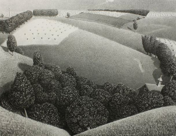 Grant Wood: Lithographs