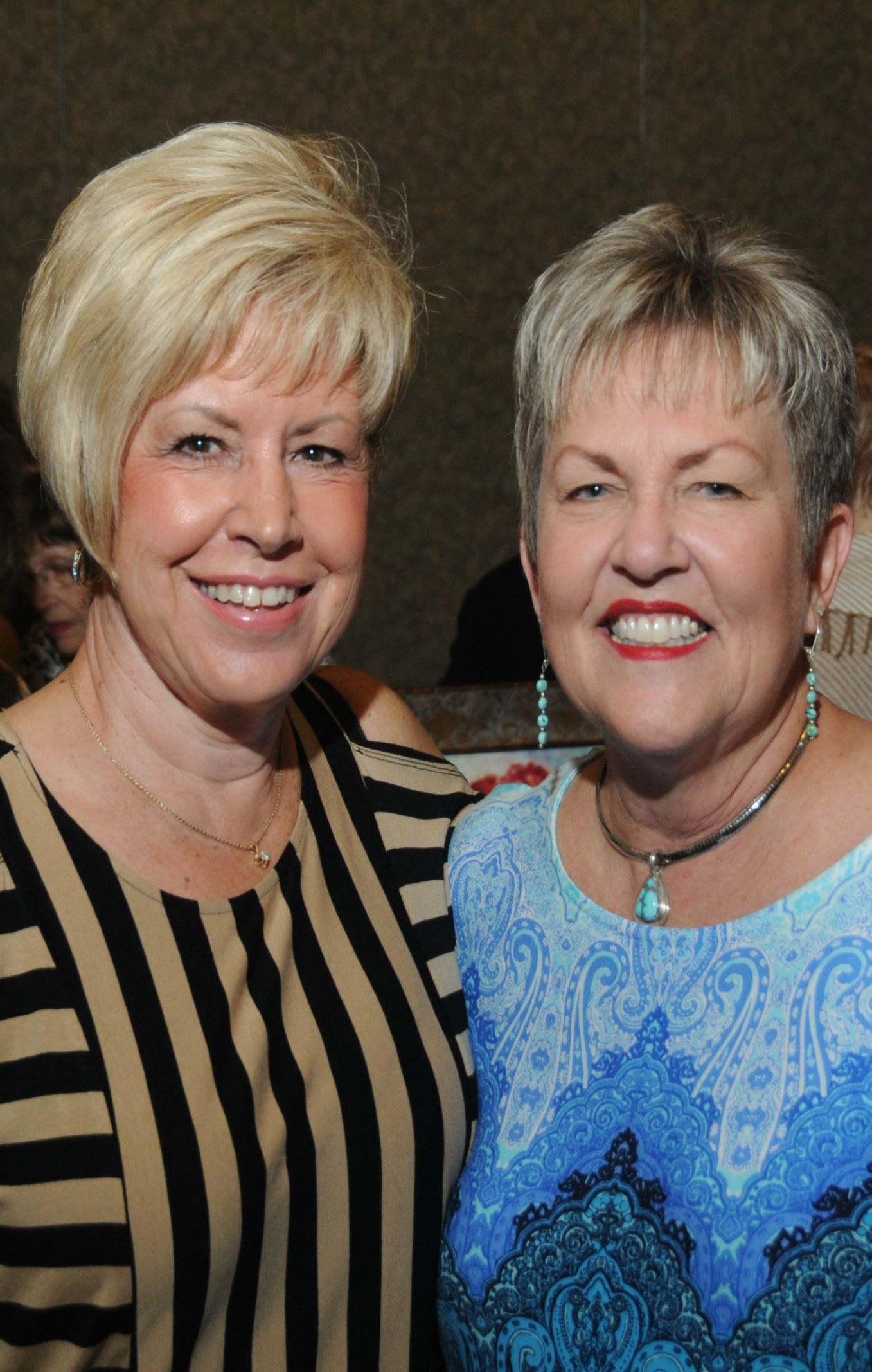 Linda Conrad and Janet Ellison at SMMA's 2016 Fall Fashion Show