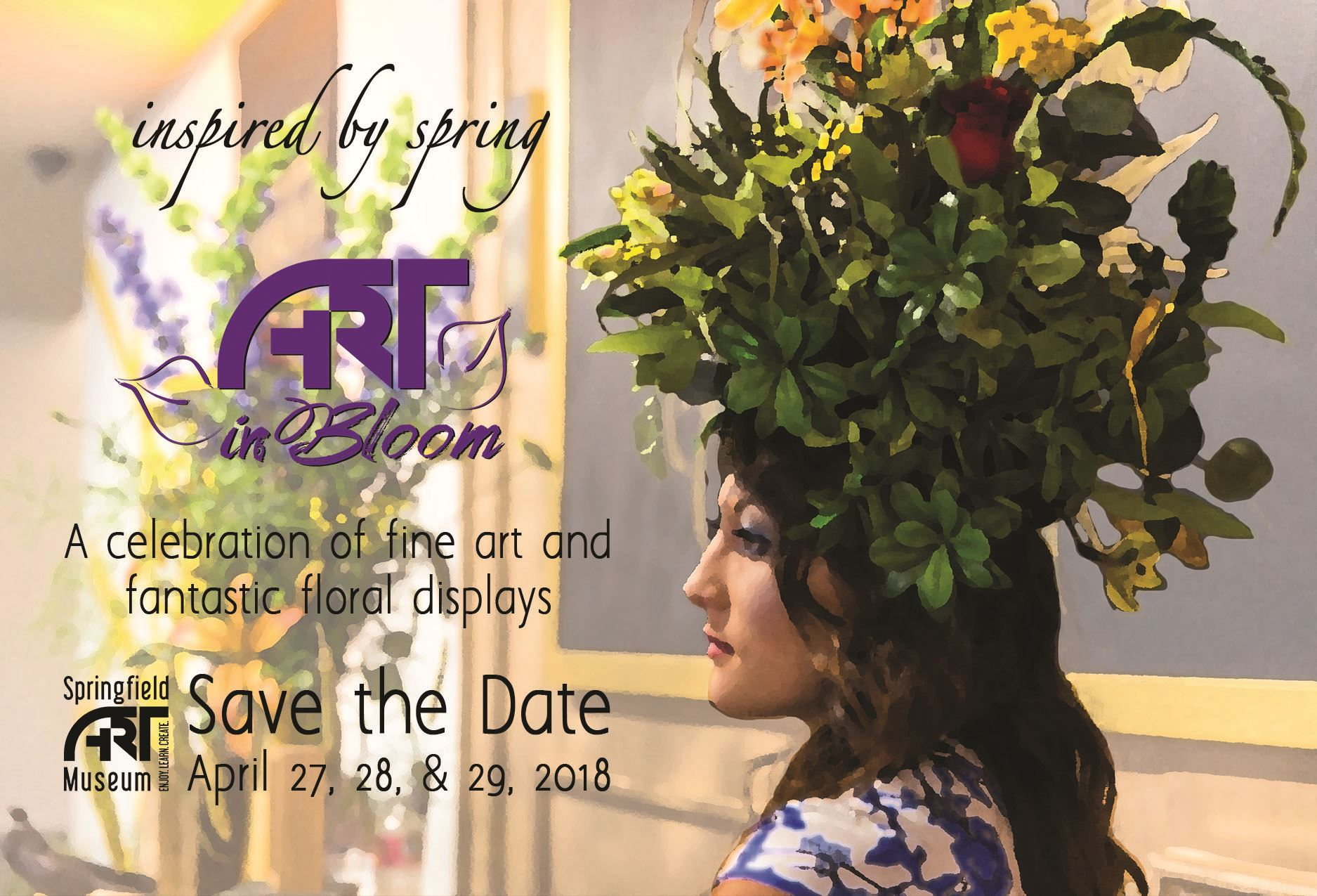 Art In Bloom Save the Date - CMYK