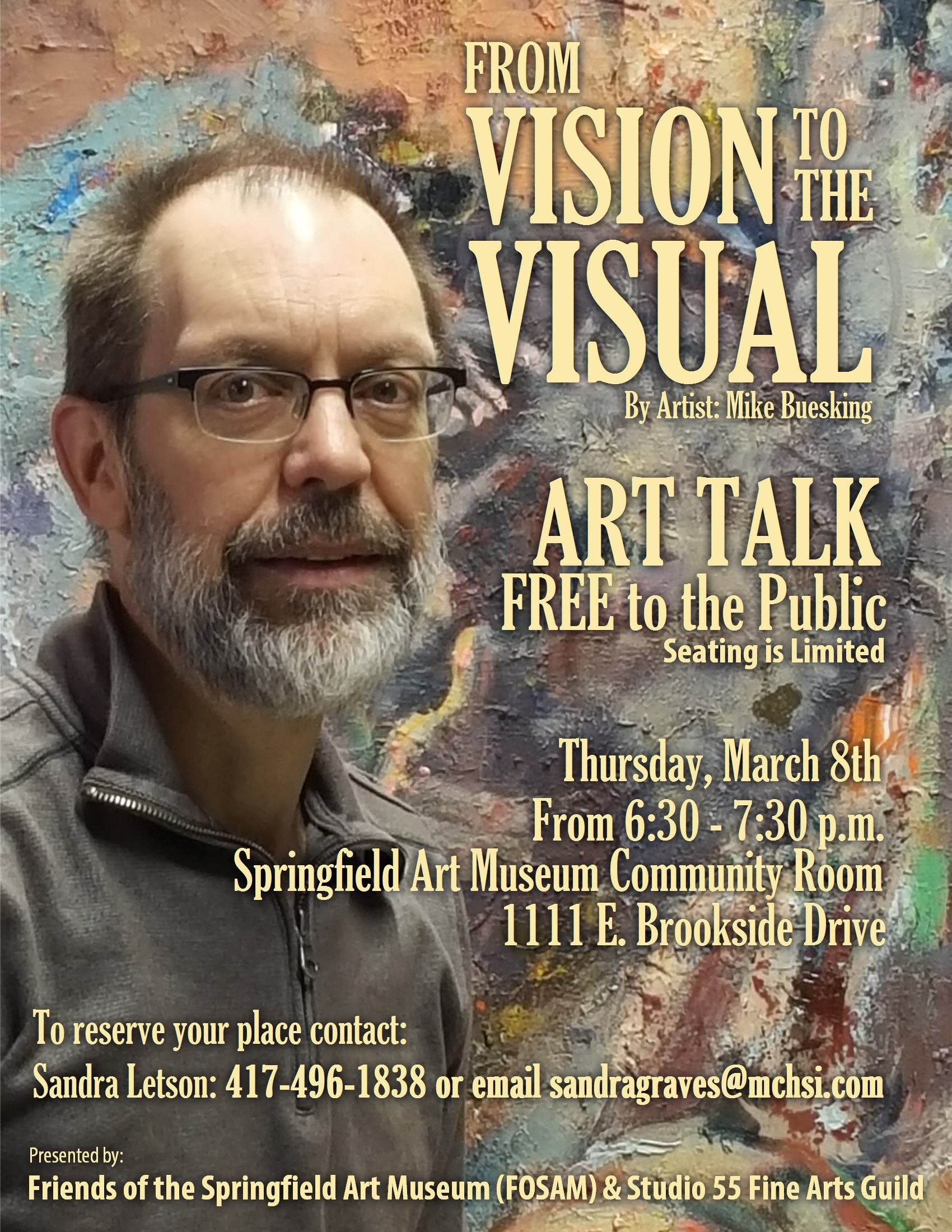 Mike Buesking Art Talk poster